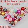 Tamaños Mezclados Colores 2 3 5 8 10mm 2500 unids No agujero Redondo Perlas Perlas de Imitación Del Arte Del Arte Diy Granos Del Arte Del Clavo decoración
