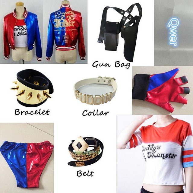 Pas Cher Harley Quinn Suicide Squad Veste Bracelets Gant Cosplay