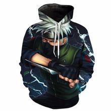 Naruto Kakashi Hatake 3D Printed Hoodie New Design