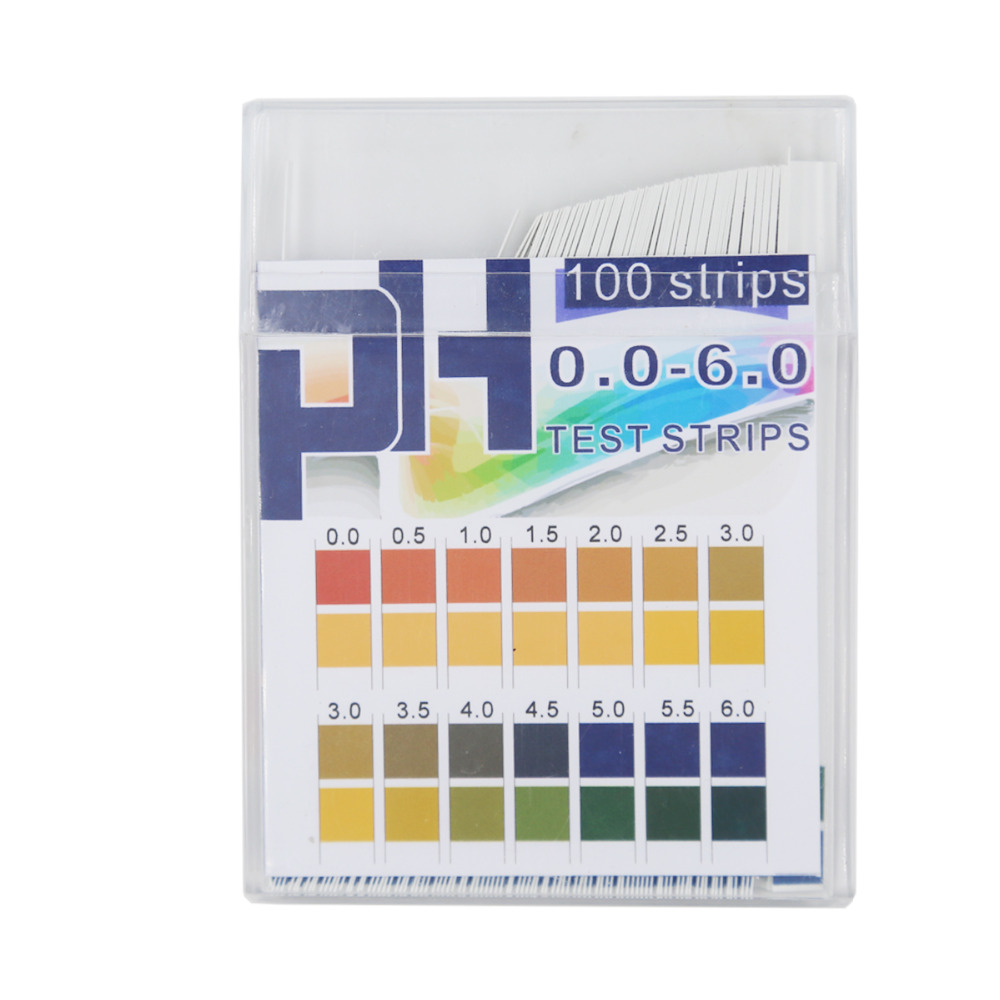 100pcs 0.0-6.0 PH Strips Boxed Measure PH Test Paper High Precision PH Indicator Paper Tester PH Test Strips 20%off