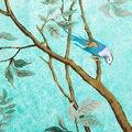 Nuevo Estilo Moda Otoño Invierno Mujeres Bufandas 130 Cm * 130 Cm pesado Sarga Pañuelo De Seda Flores Y Pájaros Selva Señora Square bufandas