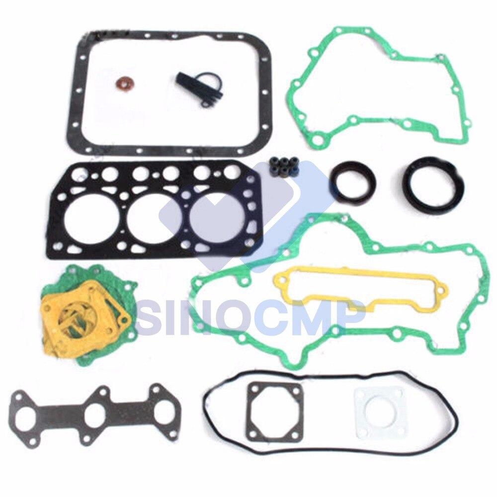 Mitsubishi K3E Engine Gasket Kit For Engine Tractor Loader&Generator_