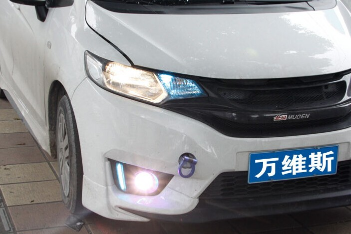 LED DRL daytime running light(2 optinals) + COB angel eye(6 optionals) + halo fog lamp + projector lens for Honda fit jazz 2014 led drl daytime running light cob angel eye projector lens fog lamp with cover for nissan versa sunny 2014 15 2 pcs