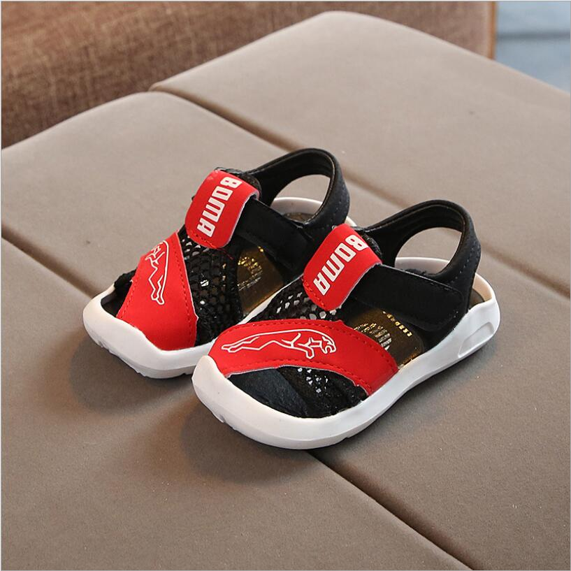 2019 Summer Kids Shoes Brand Open Toe Toddler Boys Sandals Orthopedic Sport Pu Leather Baby Boys Sandals Shoes