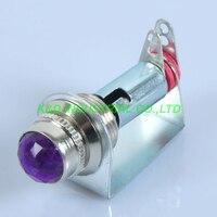 2pcs Chassis Mount Fenders Purple Pilot Light Indicator Guitar Tube Amp Audio AMP