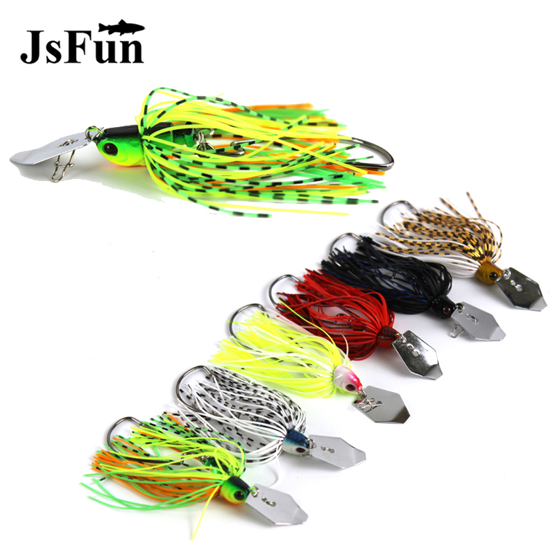 1pc 11g Chatterbait Blade Bait with Rubber Skirt buzzbait Fishing Lures TackleDS