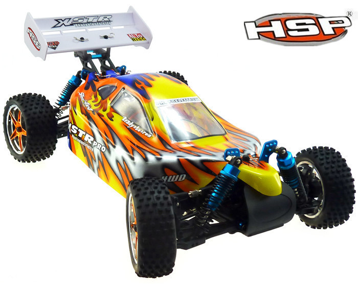 HSP 94107(pro) Off Road Buggy Rc Car 1/10 Scale Models Electric Power 4wd rc car Racing HSP Electric Car P3 02023 clutch bell double gears 19t 24t for rc hsp 1 10th 4wd on road off road car truck silver