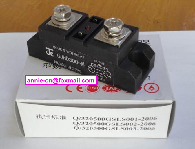 ФОТО New and original GJHD300-M JICHENG Single phase high power ac enhanced solid state relay  300A 50-440V