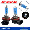 TAITIAN 2pcs Bright H8 H9 H11 55W 12V 6000K Xenon Gas Halogen Headlight White Light Lamp Bulbs