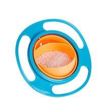 Non Spill Feeding Toddler Gyro Bowl 360 deg Rotating Baby Kids Avoid Food Spilling Baby Eat Toy Tool Flying Saucer