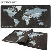 VOGROUND Large Size Mouse Pad New World Map Gaming Mousepad Locking Edge Anti-slip Waterproof Desk Mouse Mat for CS GO LOL DOTA2