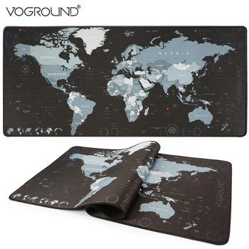 VOGROUND Large Size Mouse Pad New World Map Gaming Mousepad Locking Edge Anti-slip Waterproof Desk Mouse Mat for CS GO LOL DOTA2 1000 500mm old world map anti slip large gaming mouse pad locking edge desk mousepad mat for lol surprise cs go dota 2 gamer