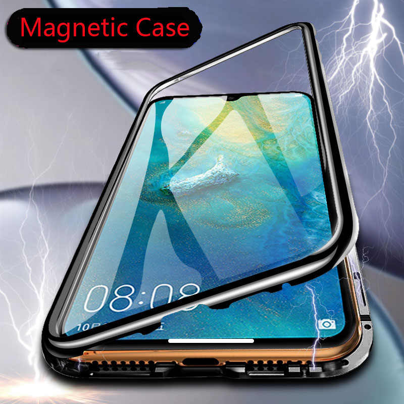 Magnetische Metall Adsorption Fall Für huawei P30 P20 Mate 10 20 Pro lite Nova 3 4 5 honor 8X10 lite 20 Y7 Y9 P smart 2019 Abdeckung
