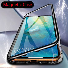 Magnetic Metal Adsorption Case For huawei P30 P20 Mate 10 20 Pro lite Nova 3 4 honor 8X 10 lite Y7 Y9 P smart 2019 Cover(China)