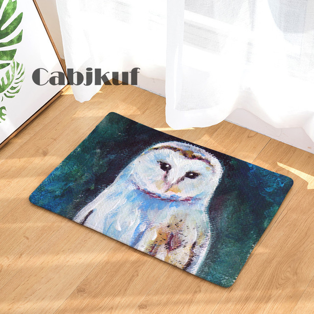 owl kitchen rugs retro table sets new arrival anti slip carpets oil painting personality print mats bathroom floor