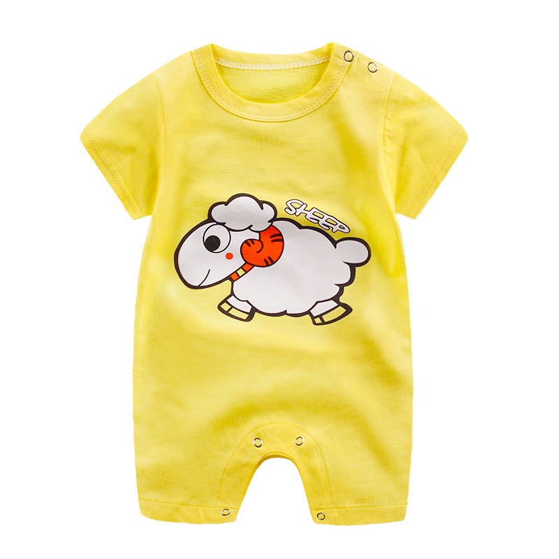 HTB16ylGkYArBKNjSZFLq6A dVXas baby clothes 100% cotton short sleeve summer girls boys rompers toddler infant 0-18 months clothes