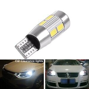 Image 3 - 2x T10 W5W araba LED sinyal ampul Canbus otomatik iç ışık plaka okuma dönüş kama yan park ters fren lambası 10SMD