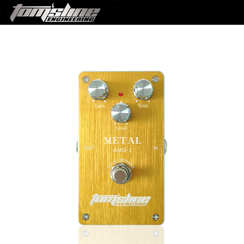 Aroma Tom'sline AMD-1 Metal Distortion Electric Guitar Effect Pedal True Bypass Aluminum Alloy Guitar Accessory aroma ams 3 loop guitar pedal looper electric guitar effect pedal true bypass unlimited overdubs guitar bass aluminum alloy