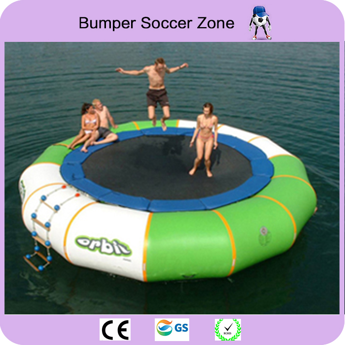 Free Shipping 5m Inflatable Water Trampoline Water Jumping Bed Jumping Trampoline Inflatable Aqua Trampoline 2015 blue yellow inflatable jumping house free shipping