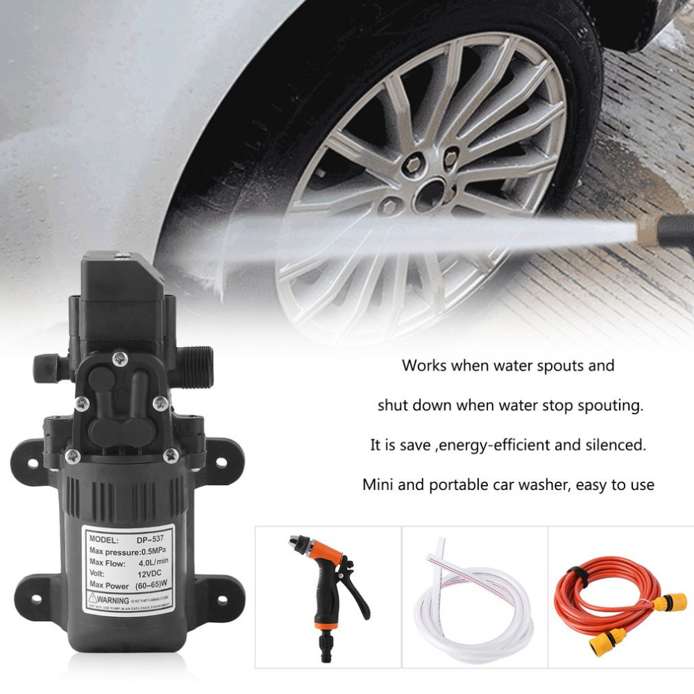 Household High Pressure Electric Car Wash Washer 4L/min Self-priming Water Pump 12V Car Washer Washing Machine Free Shipping купить