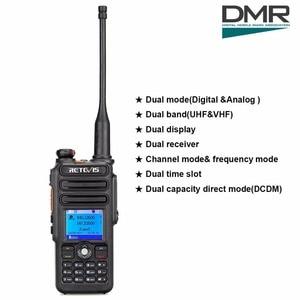 Image 2 - Walkie Talkie Digital DMR Retevis RT82 de doble banda, GPS, 5W, VHF, UHF, DMR, IP67, Ham, transmisor de Radio Amateur resistente al agua + Cable