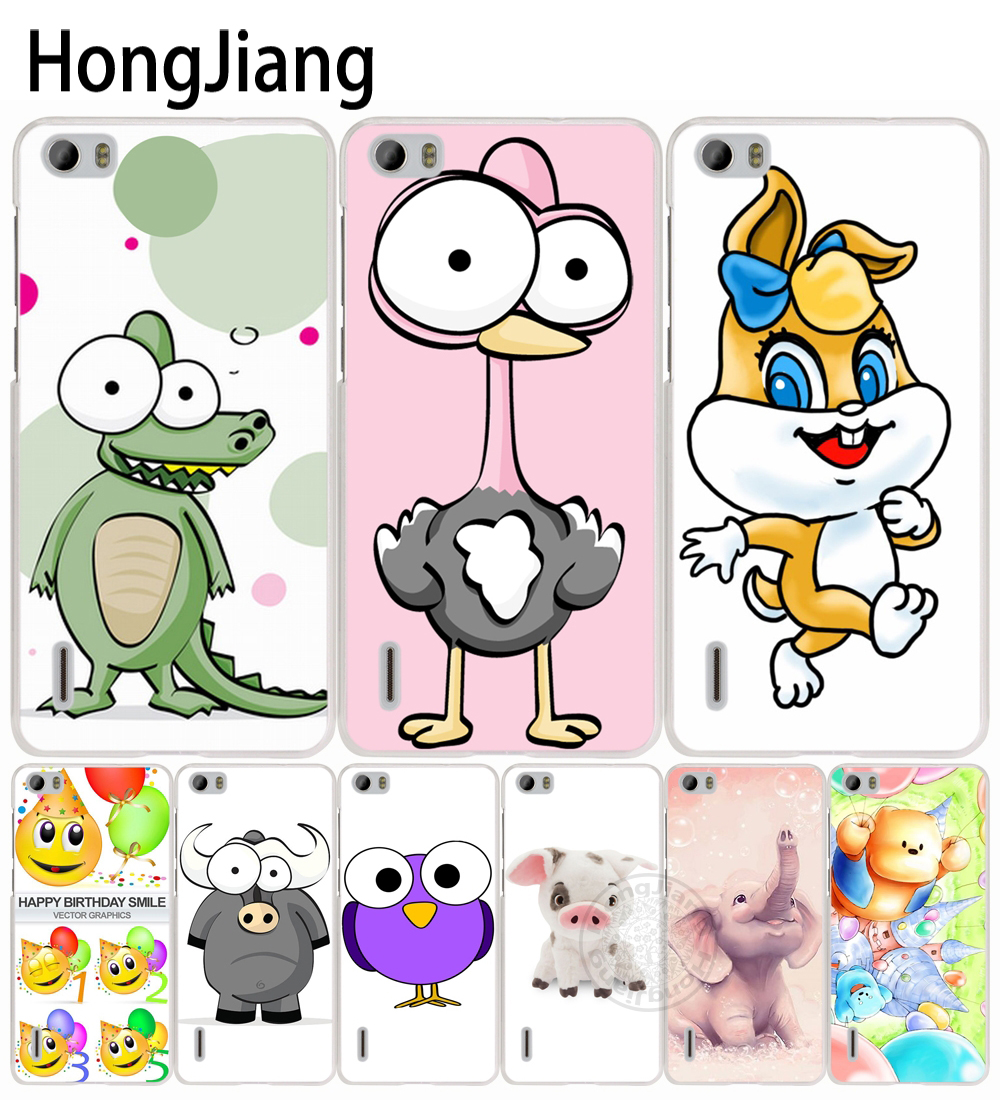 Hongjiang животных прекрасный слон лев сотового телефона чехол для Huawei Honor 3C 5A 4A 4X 4C 5×6 7 8 Y6 Y5 2 II Y560