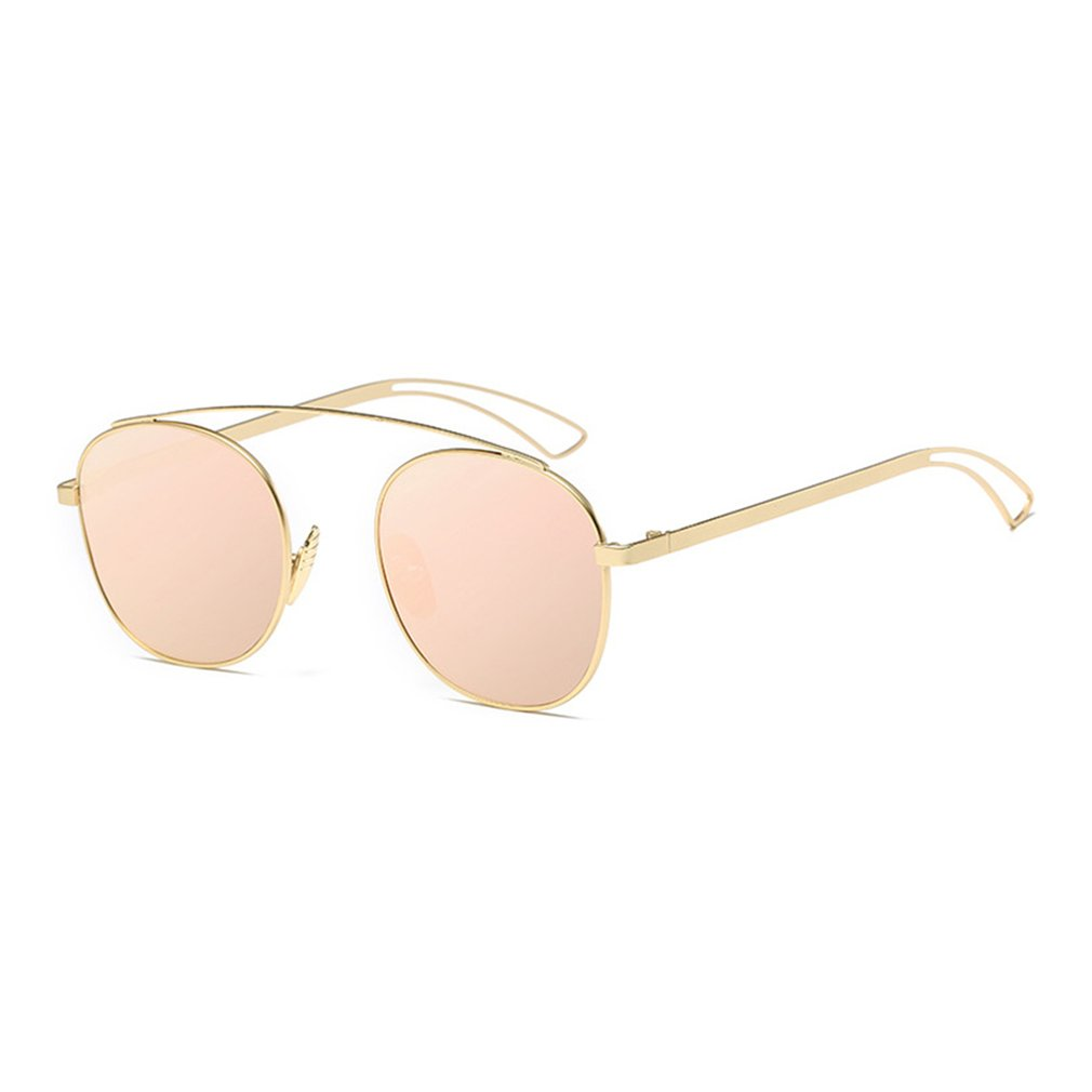 New Brand Designer Vintage round Sunglasses Women Men Metal Frame Sunglasses Color Film Sun Glasses Unisex Eyewear oculos de sol 6