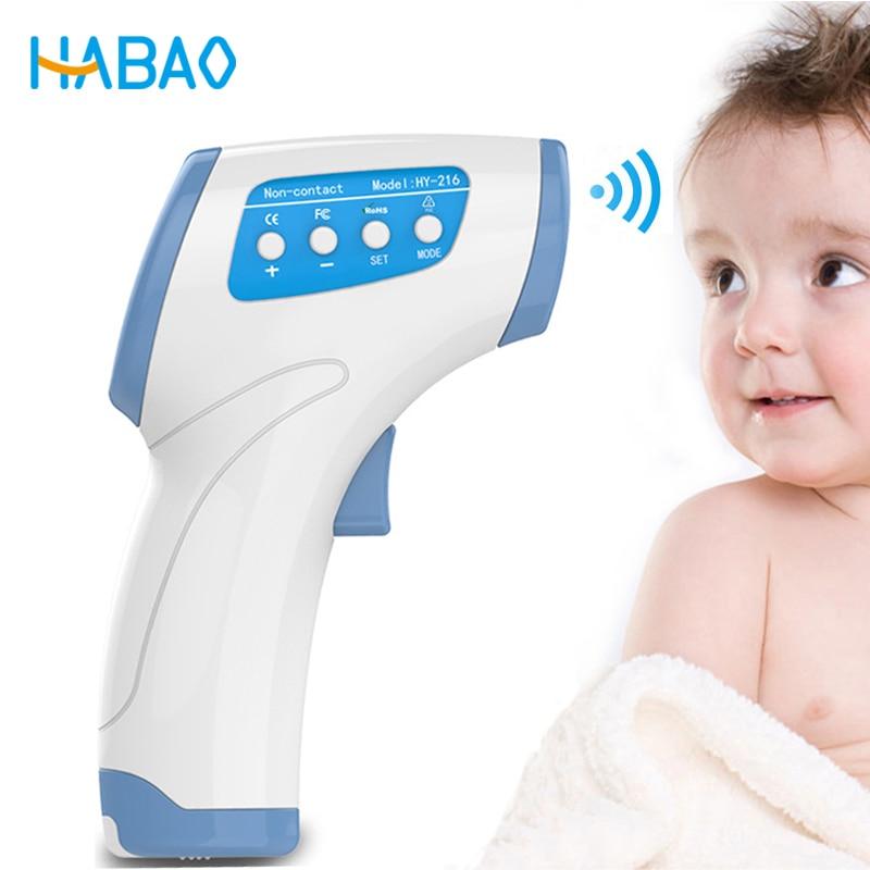 Cuidado del bebé infrarrojo Thermometer Electrónico Digital pistola sin contacto IR frente del oído infantil temperatura Termometro