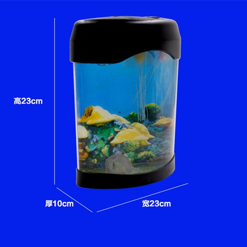 Interesting Desktop Decoration Electronic Jellyfish Aquarium Night