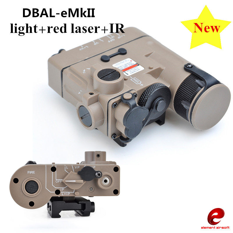 Element Airsoft Tactical Flashlight DBAL-EMKII IR Laser Led Torch Multifunction IR Laser Illuminator DBAL-D2 Weapon Lights EX328 sinairsoft tactical peq 15 red laser with white led flashlight torch ir illuminator for airsoft hunting outdoor