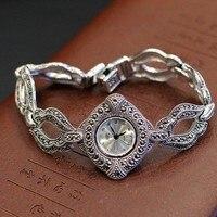 Лидер продаж Одежда высшего качества HF Марка Серебро S925 часы браслет элегантный реального Чистая серебряный браслет ювелирные изделия час