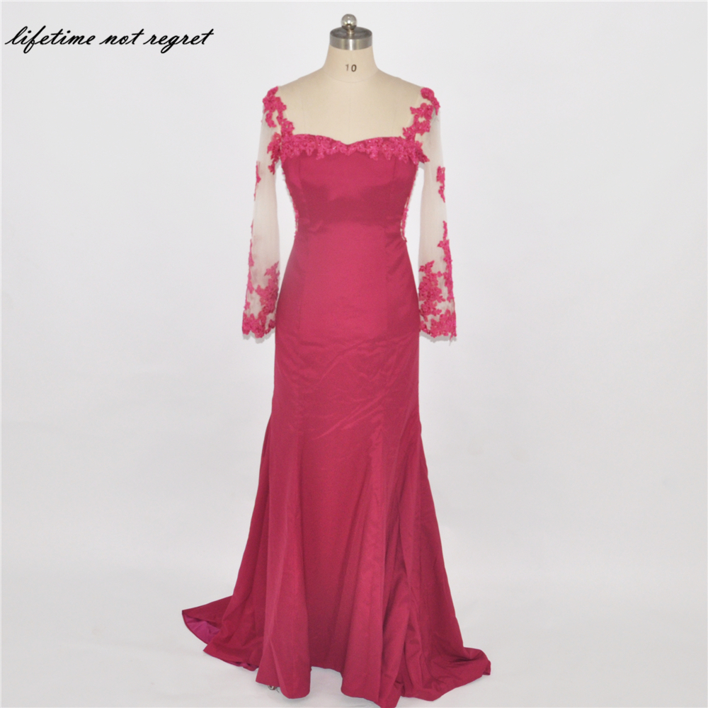 Spaghetti Straps Red Mermaid Prom Dresses 2017 Sexy ...
