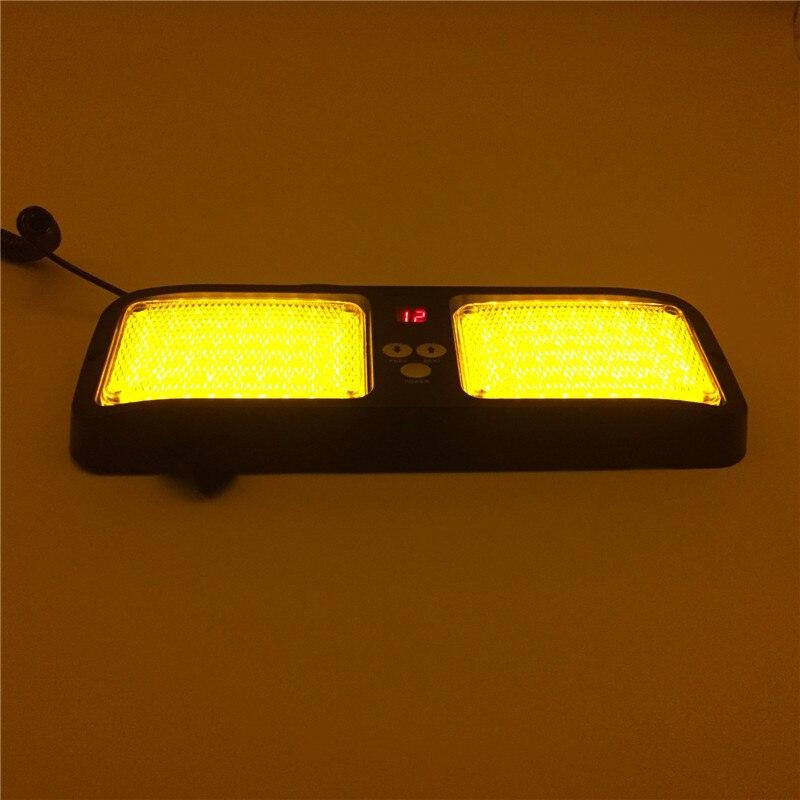 Strobe Light 8 LED 12V coche Advertencia lámpara de emergencia barra con ventosa