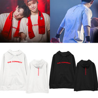 2018 new kpop Monsta X THE CONNECT concert Same paragraph hoodie