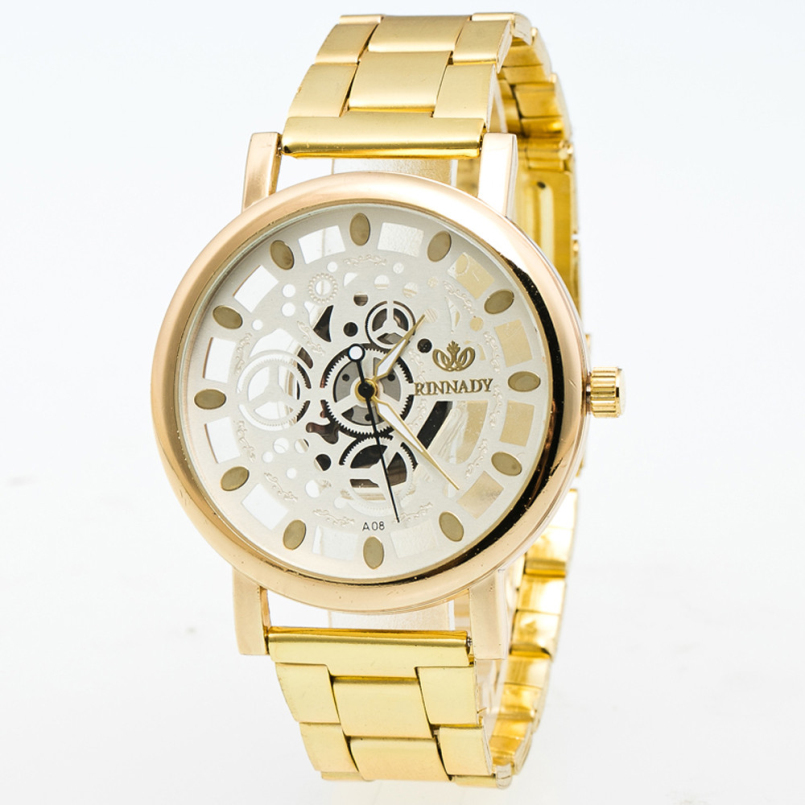 Excellent Quality New Watches Gold Color Mens Watches Casual Luxury Ladies Watches Steel Women Dress Watches Relojes Hombre