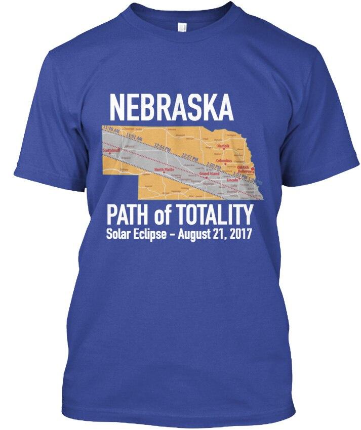 Solar Eclipse 2017 Nebraska - Path Of Totality August popular Tagless Tee T-Shirt