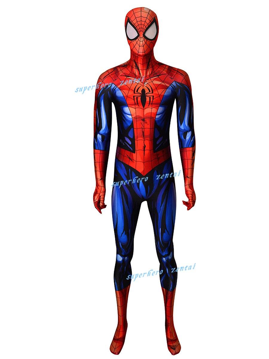 2019 New Adult Men Kids Bagley Spiderman Cosplay Costume Spider Man Superhero Zentai Bodysuit Suit Jumpsuits