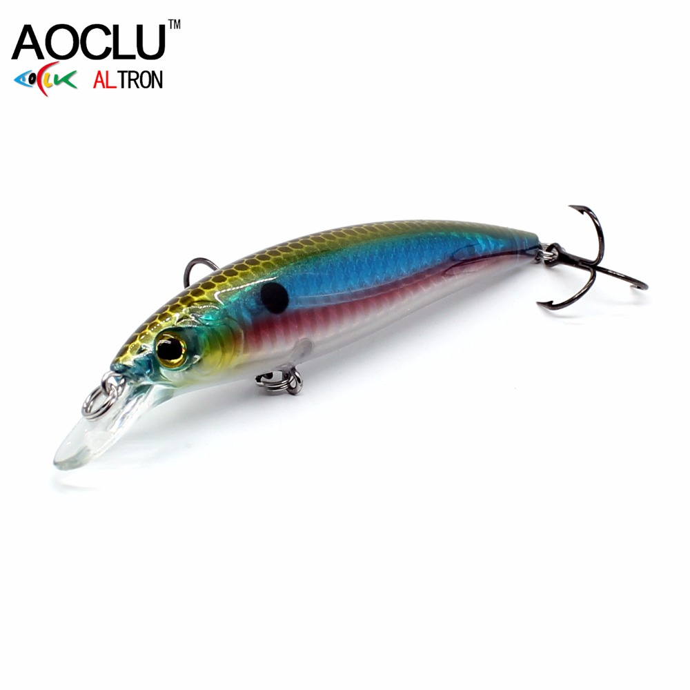 2018 AOCLU NEW LURE wobbler 100mm 16g Sinking Hard Bait Minnow Crank fishing lure saltwater Bass Fresh VMC hooks 6 colors tackle 10pcs 7 5cm soft lure silicone tiddler bait fluke fish fishing saltwater minnow spoon jigs fishing hooks