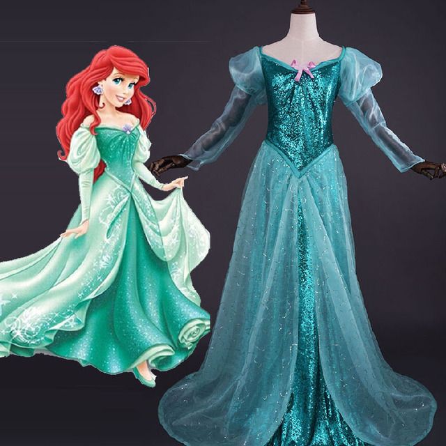 princess ariel dress sexy adult mermaid costume halloween costumes for women cosplay deluxe party ball gowns