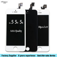 10PCS LOT Quality A Display For IPhone 5S 5C 5 LCD Digitizer Assembly With Great Touch