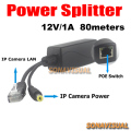 Arrival Real POE Splitter special for IP camera POE Power Supply 12V/1A transmission distance 80meters Power Over Ethernet