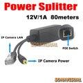 Llegada Real POE Divisor especial para la cámara IP POE fuente de Alimentación 12 V/1A distancia de transmisión de 80 metros de Potencia a través de Ethernet