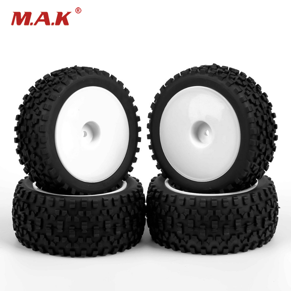 4Pcs 1/10 Off-Road Rc Buggy Car Type Tires Wheel Rim 25024+27011 HSP HPI Front & Rear Rubber Wheel For Model Car Toys Accessory 2pcs rc car 1 10 hsp 06053 rear lower suspension arm 2p for 1 10 4wd rc car hsp 94155 94166 94177