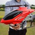 Grande aleación 75 cm 2.4G 3.5CH de doble hélice de distancia de control remoto de helicóptero de control remoto con luz LED de color de 100 me