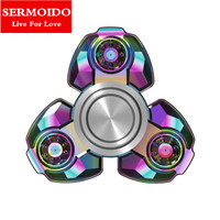 SERMOIDO Russian CKF Alloy Triangle Gyro Fidget Spinner Metal EDC Hand Finger Spinner For Autism ADHD