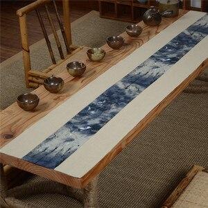 Креативный винтажный узор из хлопка и льна, чайная посуда, коврики, аксессуары для чайной церемонии, домашний обеденный стол, украшение, сто...
