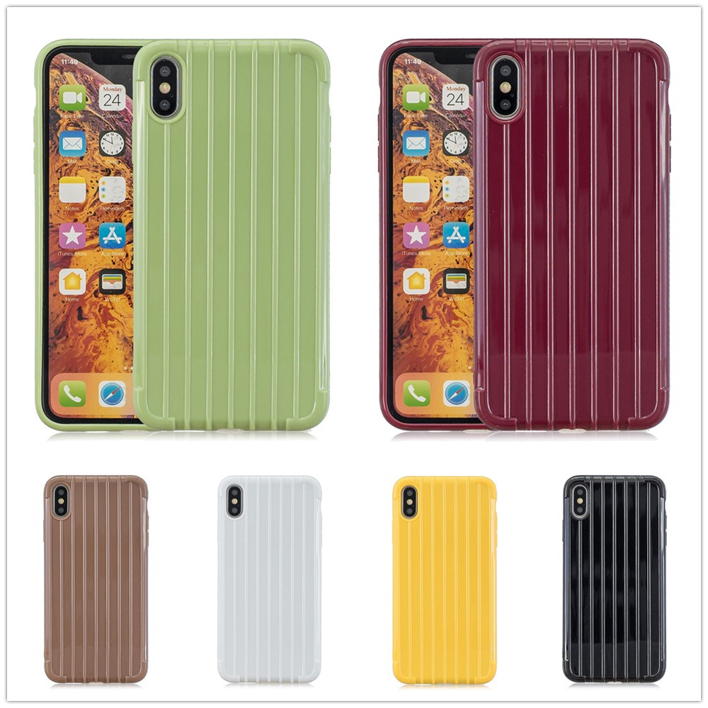 case for iPhone x xs 8 7 xr max 6 6s Plus Soft Cover iPhone7 iPhone8 8Plus 7Plus line streak concise protruding silicon TPU case in Fitted Cases from Cellphones Telecommunications