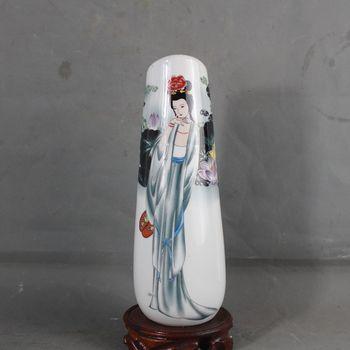 Antique porcelain Qing Qianlong gilt antique vase ornaments antique collection pattern beauty