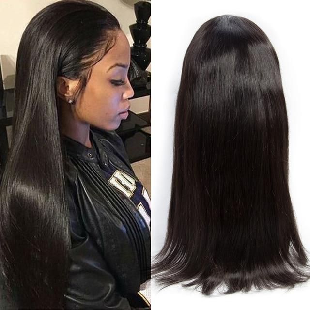 Peruvian Hair Lace Front Human Hair Wigs Straight Virgin Peruvian ...