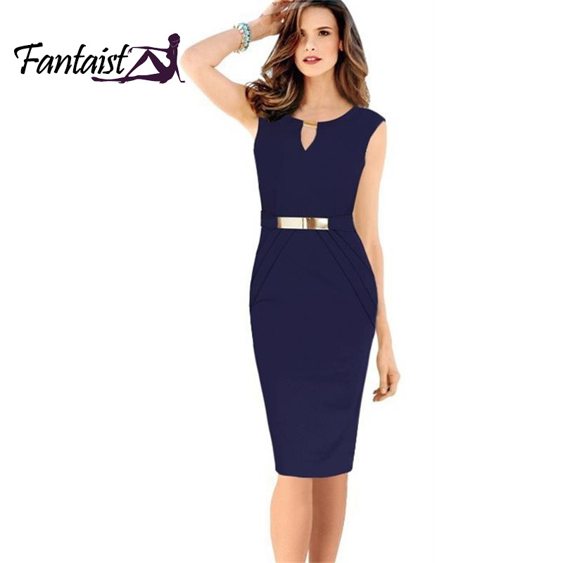 Fashion Women 2014 Gown Empire Waist Knee Length Sequined Elegant Casual Bodycon Pencil Evening Party Dresses